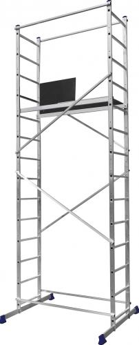 Купить Вышка-тура алюминиевая Алюмет Техно-5 4207, рабочая высота 5 м — Фото №1