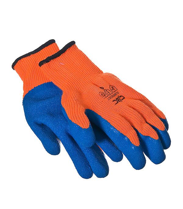 Перчатки утепленные акриловые с латексным покрытием