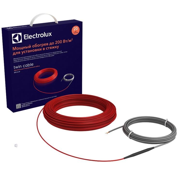 Теплый пол двухжильный Electrolux Twin Cable ETC 2-17-1200 1200 Вт, 70,6 м