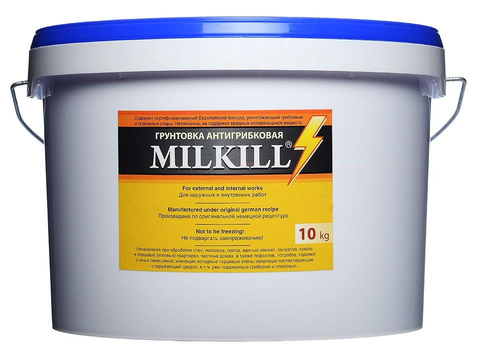 Купить Грунтовка латексная антигрибковая MillKill (белая), 10 л — Фото №1