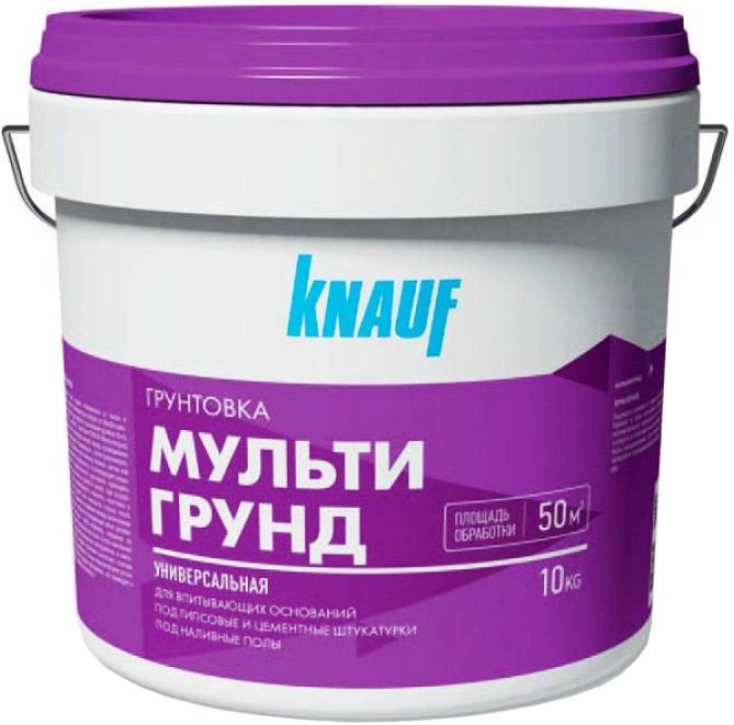 Купить Грунтовка универсальная Knauf Мультигрунд, 10 кг — Фото №1
