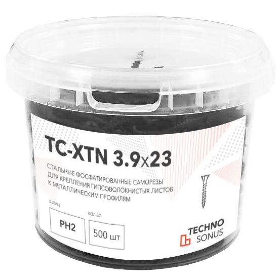 Саморезы ТС-XTN черный 3.9х23 мм, 500 шт