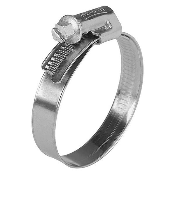 Хомут обжимной 32-50 мм нержавеющая сталь (2 шт)