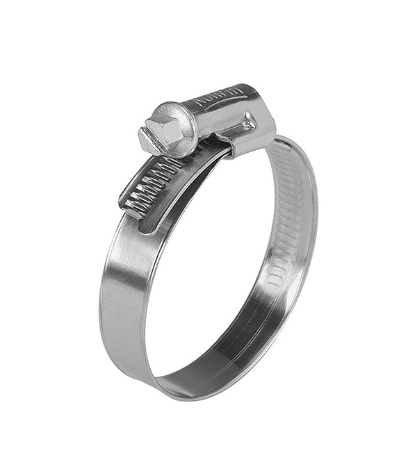 Хомут обжимной 60-80 мм нержавеющая сталь (2 шт)