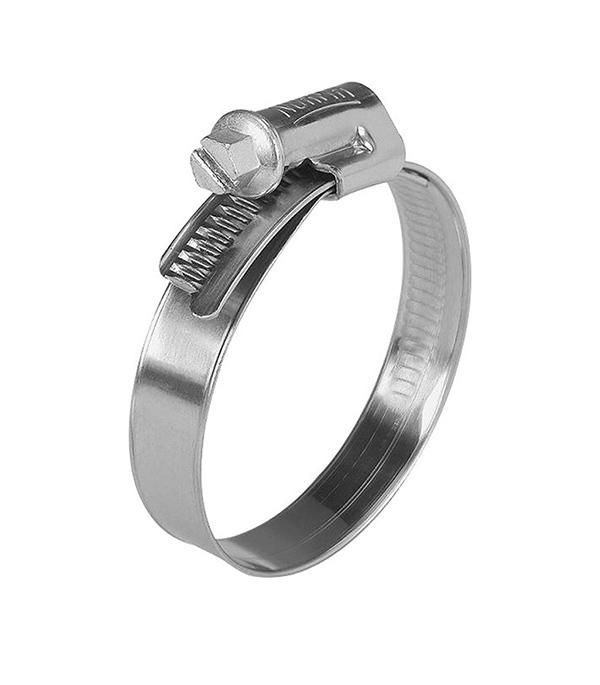 Хомут обжимной 25-40 мм нержавеющая сталь (2 шт)