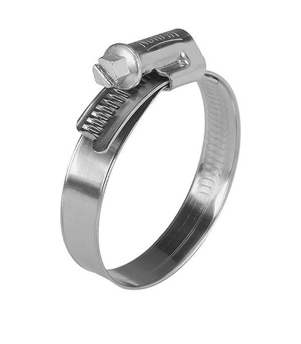 Хомут обжимной 10-16 мм нержавеющая сталь (2 шт)