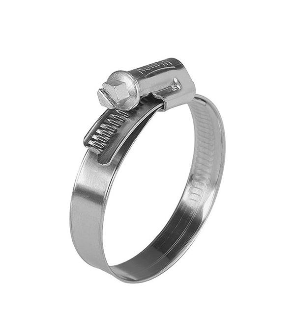 Хомут обжимной 8-12 мм нержавеющая сталь (2 шт)