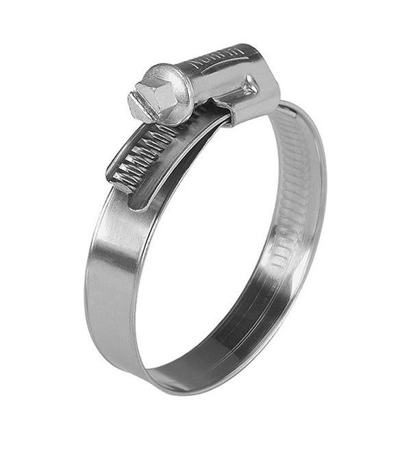 Хомут обжимной 12-20 мм нержавеющая сталь (2 шт)