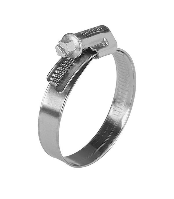 Хомут обжимной 80-100 мм нержавеющая сталь (2 шт)