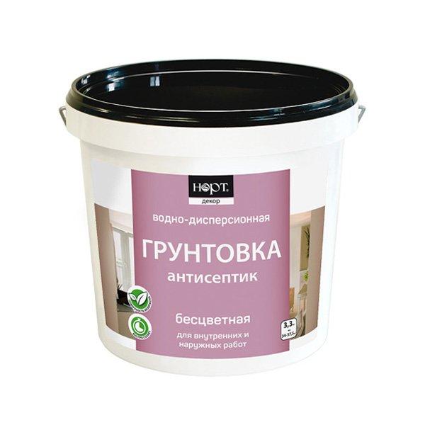Грунтовка-антисептик Норт, (бесцветный), 10.5 кг