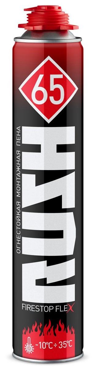 Купить Пена монтажная профессиональная огнестойкая Rush Firestop Flex 65, 1000 мл — Фото №1