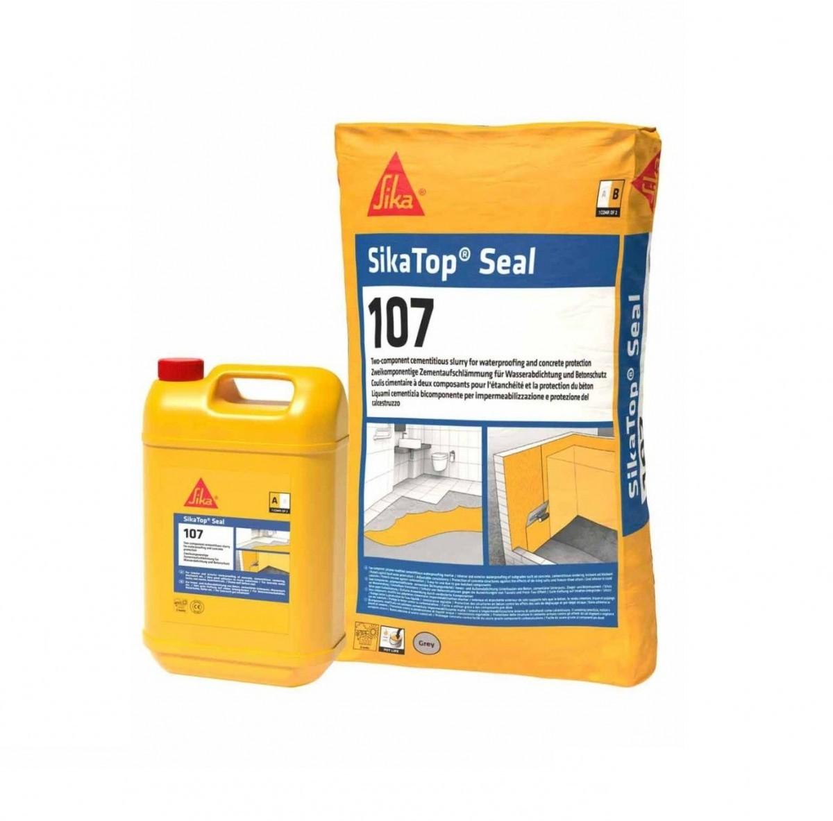 Гидроизоляция обмазочная SikaTop Seal 107 комплект, 25 кг