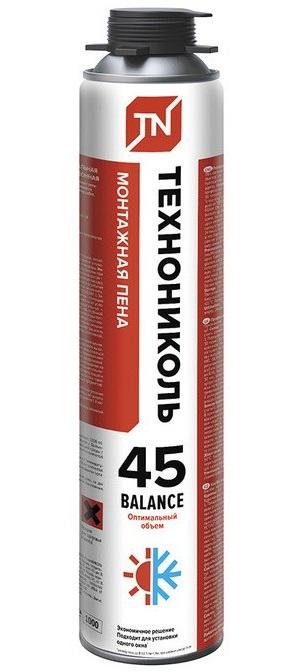 Купить Пена монтажная профессиональная всесезонная Технониколь 45 Balance, 1000 мл — Фото №1