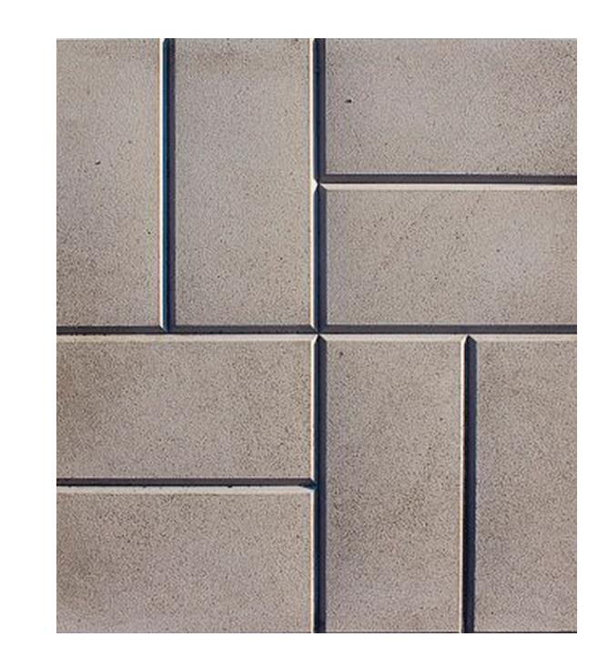 Купить Плитка тротуарная 8 кирпичей (серая), 400х400х50 мм — Фото №1