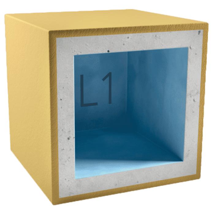 Короб звукоизоляционный для светильника AcousticGyps Box L1 150х150х100 мм