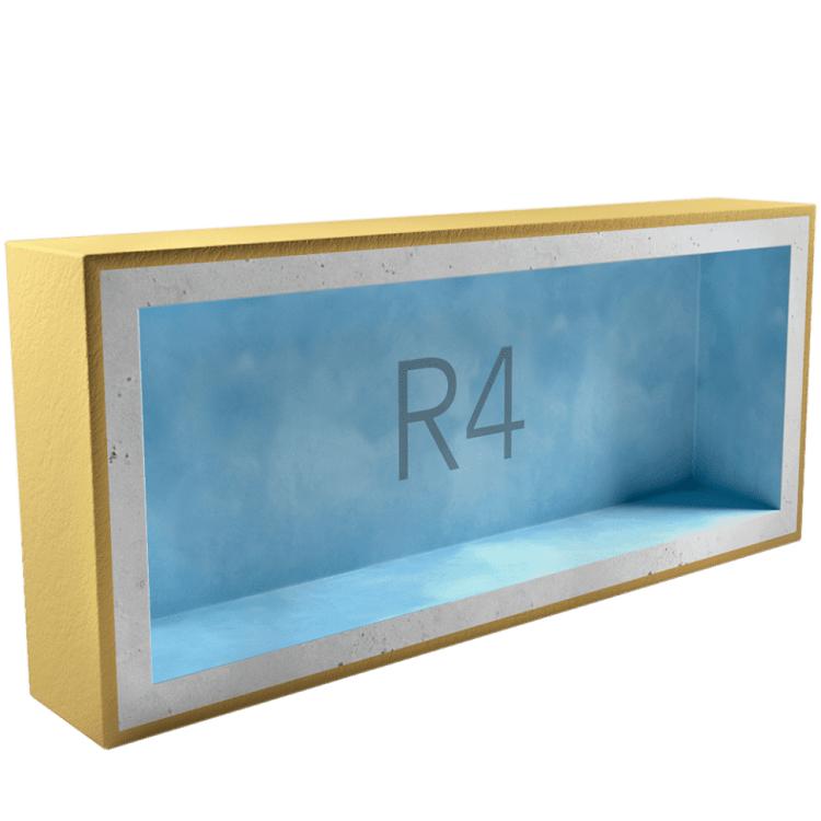 Подрозетник звукоизоляционный AcousticGyps Box R4 340х120х45 мм
