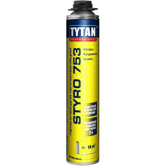 Пено-клей Tytan Professional Styro 753 для наружной теплоизоляции 750 мл