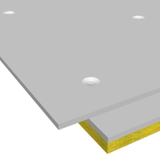 Сэндвич-панель звукоизоляционная ЗИПС-III-Ультра 1200х600х42 мм с комплектом крепежа