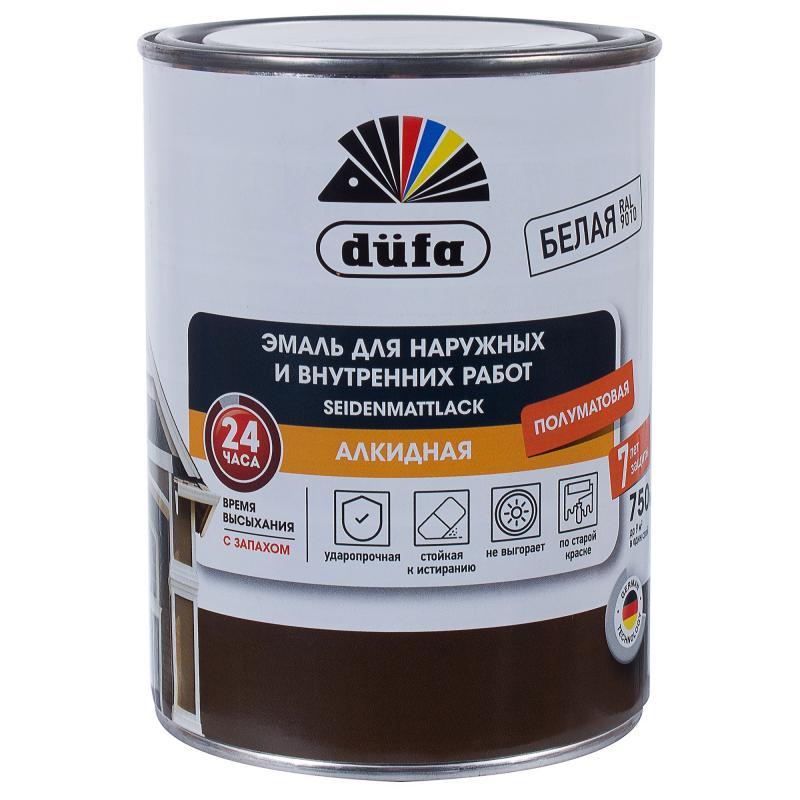 Купить Dufa SeidenmattLack (белая), 0.75 л