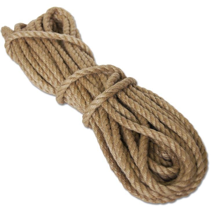 Купить Веревка джутовая 10 мм, длина 20 м — Фото №1