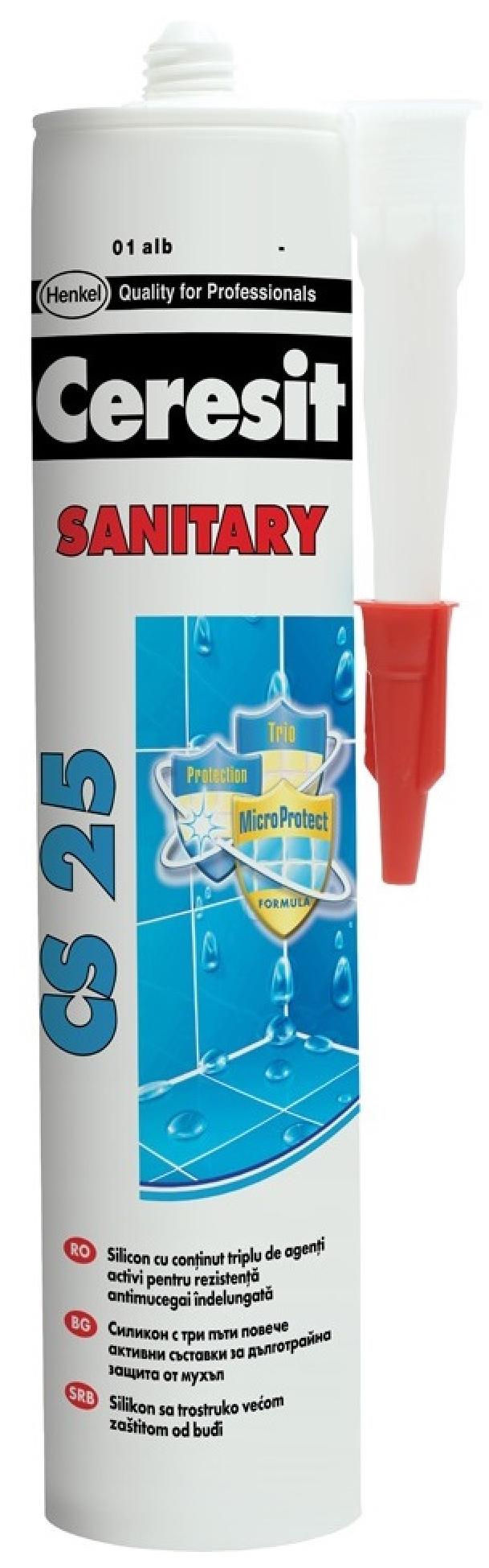 Ceresit CS 25 43, 280 мл, Затирка-герметик санитарная, Багамы