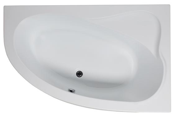 Купить Ванна угловая акриловая Aquanet Luna R (белая), 155x100 см — Фото №1