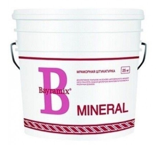 Штукатурка декоративная мраморная Bayramix Mineral 024 (мозаичная фактура), 25 кг