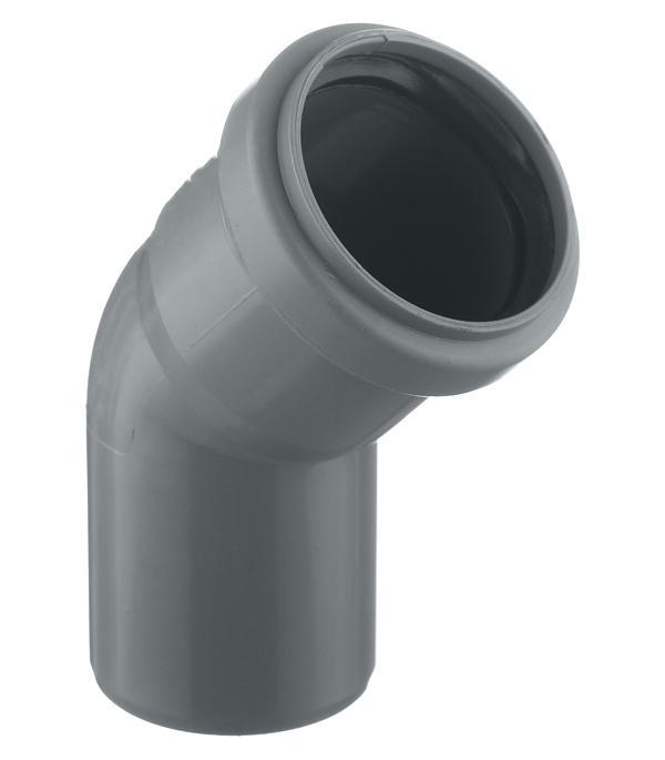 Купить Отвод канализационный внутренний RU-TB ПП, диаметр 50 мм (угол 45°)