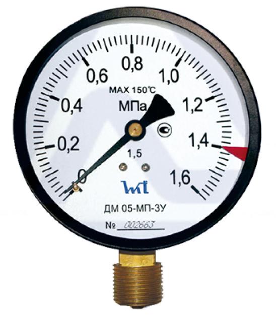 Манометр радиальный Стеклоприбор ДМ05-МП-3У, 100-1/2″