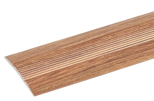 Порог Artens (орех), 30х900 мм, алюминиевый стыкоперекрывающий одноуровневый