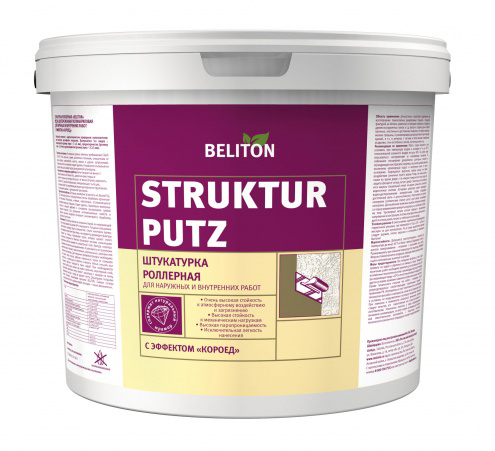 Beliton Strukturputz, 25 л, Штукатурка декоративная среднезернистая короед