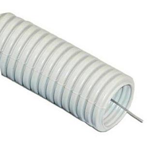 Купить Гофра легкая с зондом ПВХ диаметр 16 мм (100 м) — Фото №1