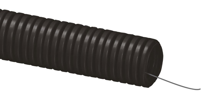 Купить Труба гофрированная легкая с зондом ПНД 20 мм, 100 м — Фото №1