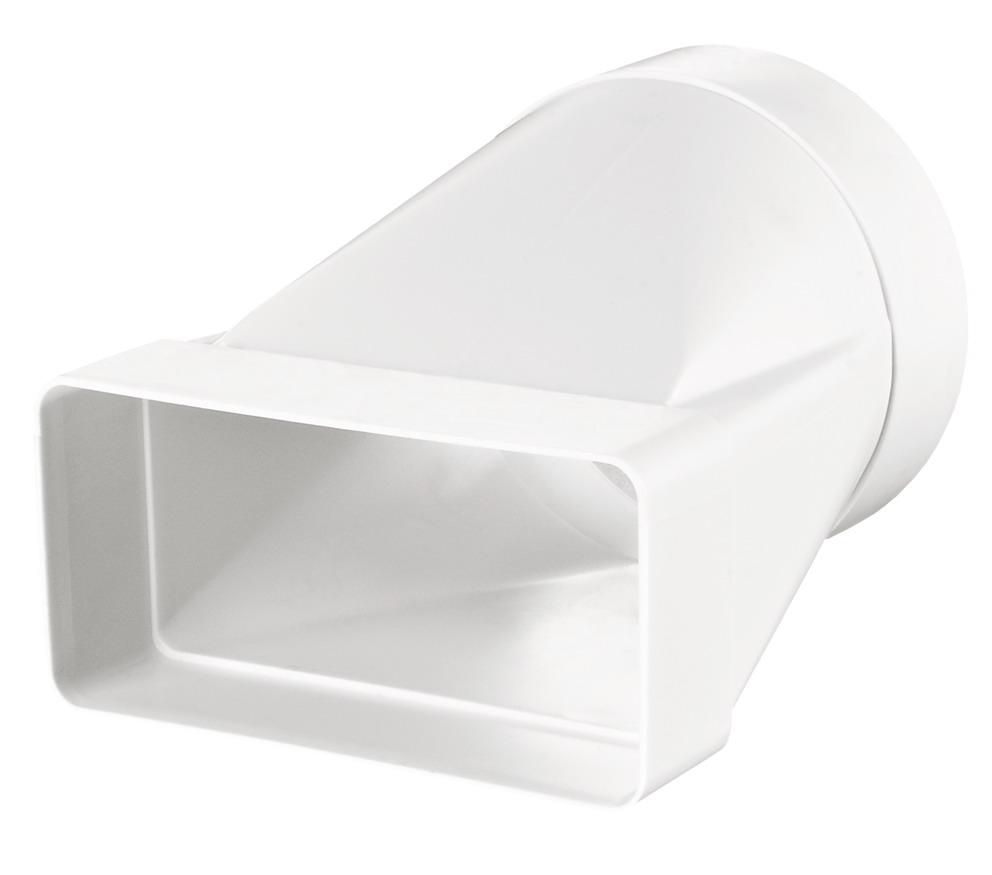 Соединитель для круглых и плоских вентиляционных каналов Вентс Пластивент 511, размер 55х110/100 мм (в упаковке)