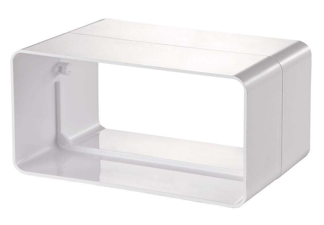 Купить Соединитель для вентиляционных коробов Вентс Пластивент 515, размер 55х110 мм