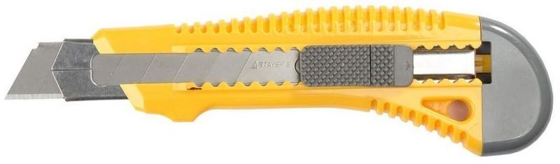Купить Нож строительный сегментный Stayer, лезвие 25 мм