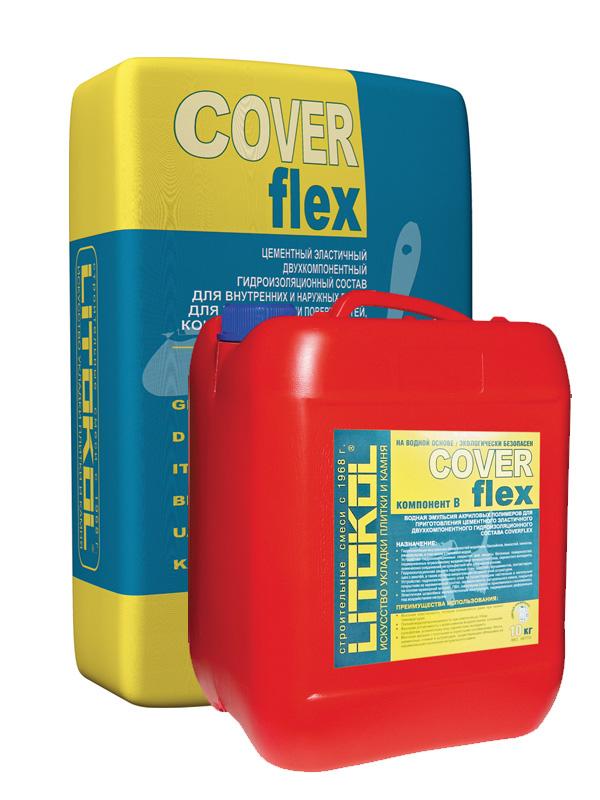 Litokol Coverflex, 30 кг, Гидроизоляционный состав двухкомпонентный