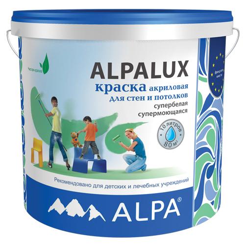 Краска интерьерная акриловая Alpa Alpalux С (прозрачная), 9.06 л