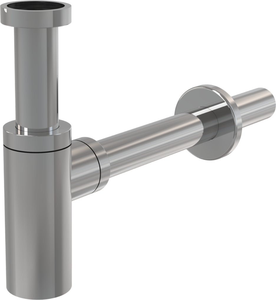 Купить Сифон для раковины цельнометаллический Alcaplast A400, диаметр 32 мм — Фото №1