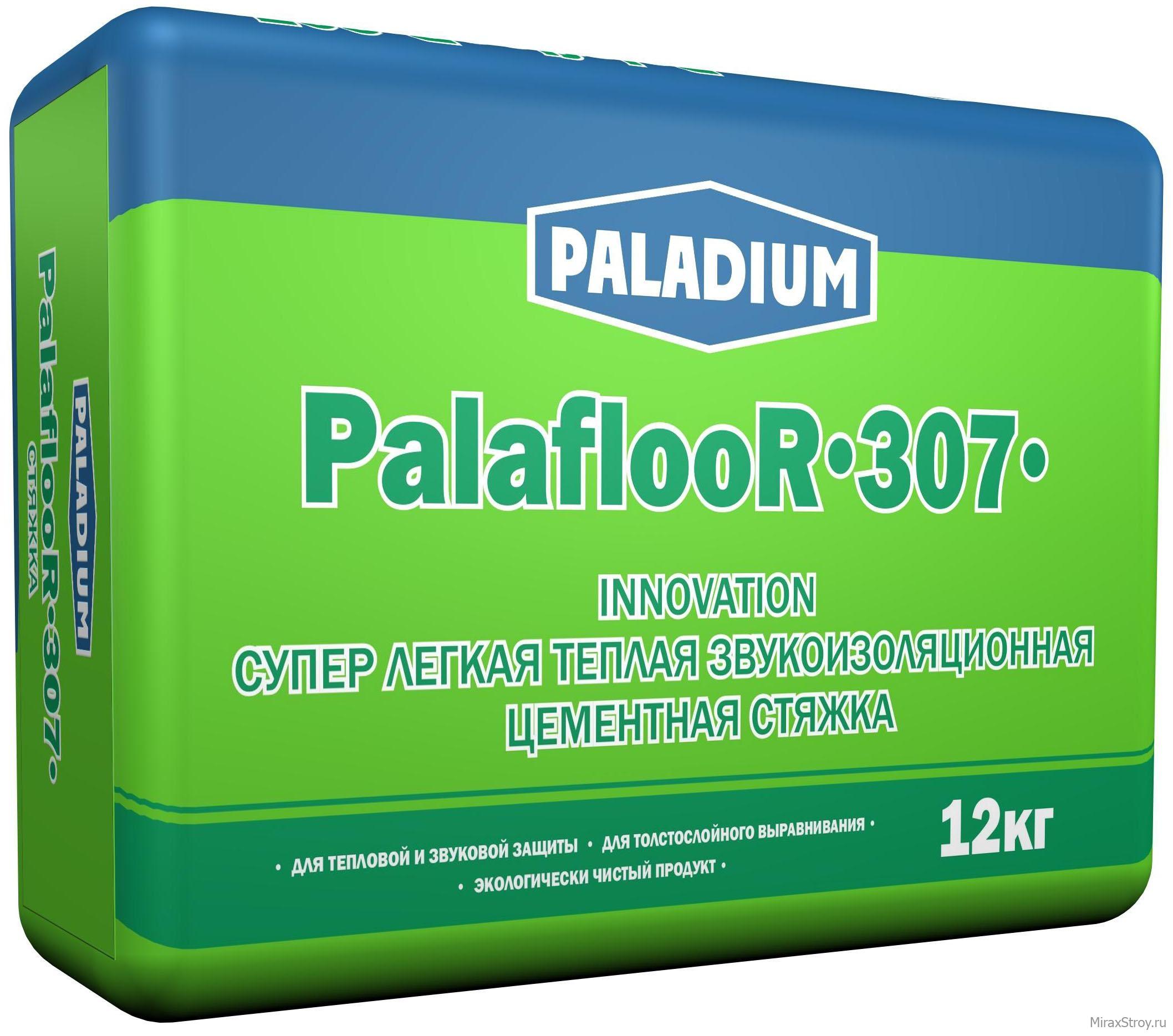 Купить Стяжка пола теплоизоляционная Paladium Palafloor-307, 12 кг — Фото №1