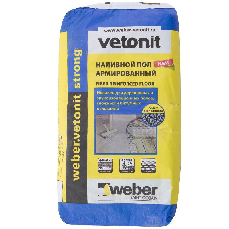 Купить Наливной пол армированый Weber.Vetonit Strong, 20 кг — Фото №1