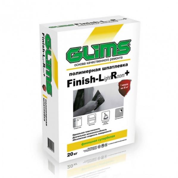 Купить Шпатлевка полимерная финишная Glims Finish LR+ (белая), 20 кг — Фото №1