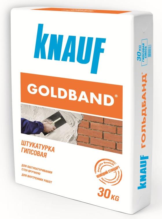 Купить Штукатурка гипсовая Knauf Гольдбанд, 30 кг — Фото №1