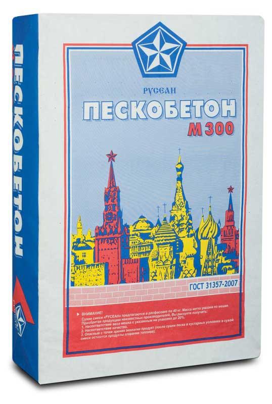 Купить Пескобетон М300 40 кг, Русеан — Фото №1