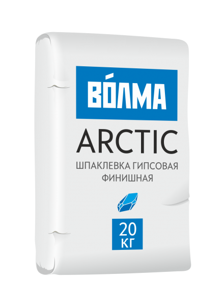 Купить Шпатлевка гипсовая финишная Волма Arctic, 20 кг — Фото №1