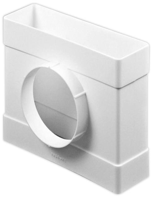 Купить Тройник для вентиляционных коробов Эра пластиковый, 110х55/100 мм