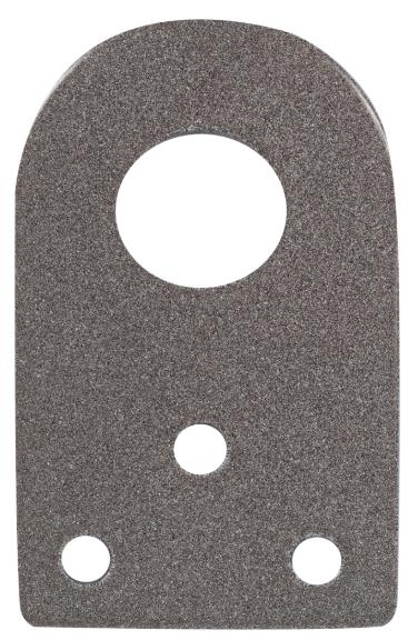 Проушина для навесного замка 65х40х2.5 мм, диаметр 16 мм