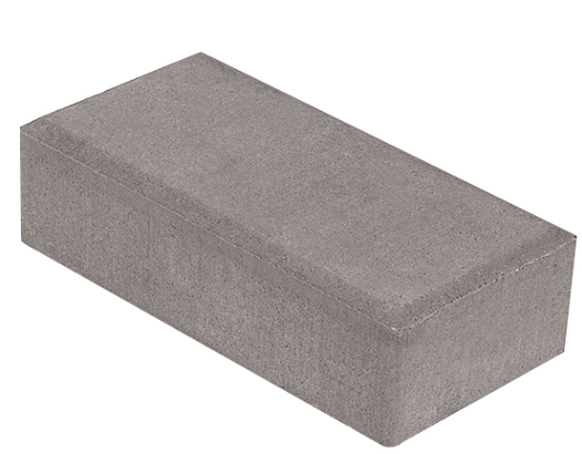 Плитка тротуарная Брусчатка (кирпичик), 200х100х60 мм