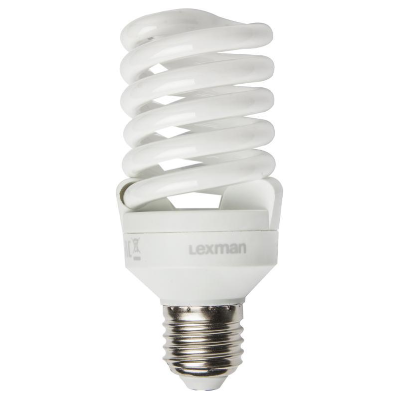 Купить Лампа энергосберегающая спираль E27 (свет теплый), мощность 20 Вт