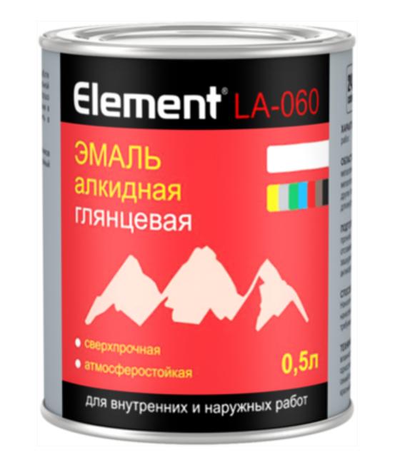 Эмаль алкидная глянцевая сверхпрочная атмосферостойкая Alpa Element LA-060